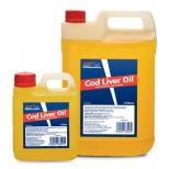 Menkių kepenėlių aliejus Cod liver Oil, 1ltr