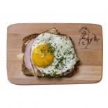 Medinė pusryčių lentelė su žirgu