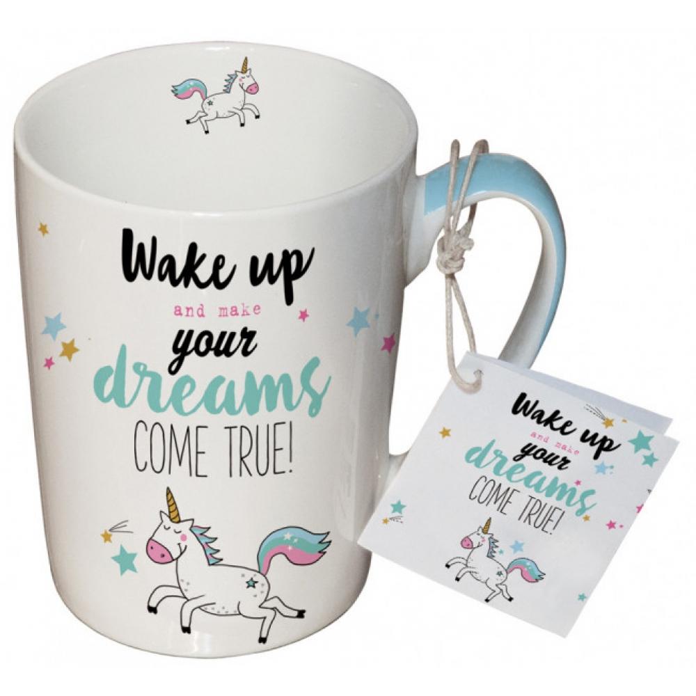 Porcelianinis puodelis Wake Up