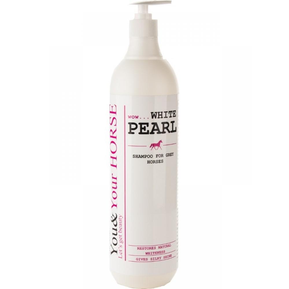 Šampūnas šviesaus kailio žirgams WHITE PEARL