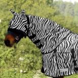 Kaklas nuo musių Zebra, prisegamas prie gūnios