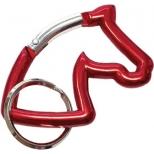 Raktų pakabukas-karabinas Horse Head
