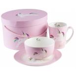 Pusryčių indų rinkinys Pink Unicorn
