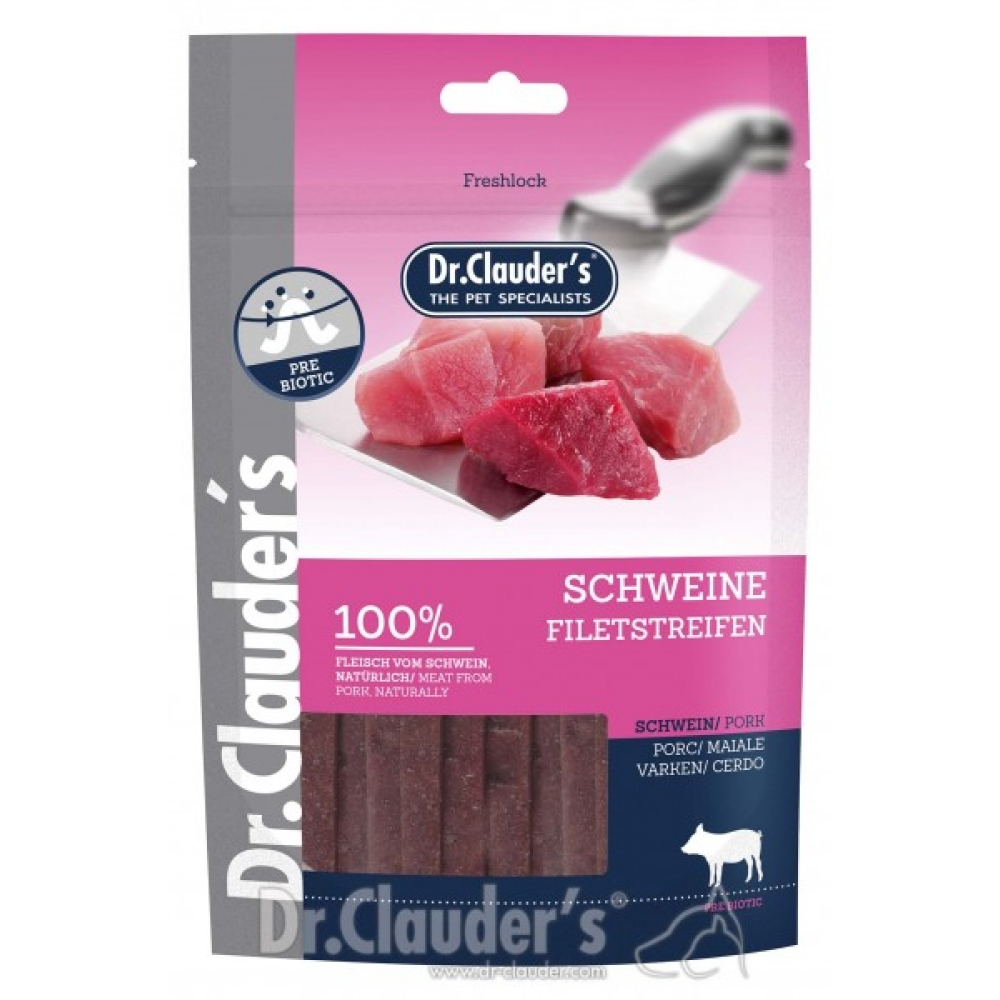 DR. CLAUDER'S vytintos kiaulienos skanėstas šunims 80g