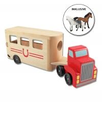 Žirgai ir transportavimo mašina